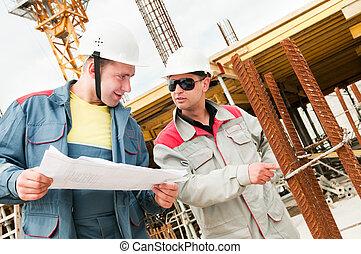 costruzione, costruttori, luogo, ingegneri