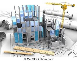 costruzione costruzione, 3d