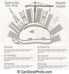costruzione, disegno, lineare