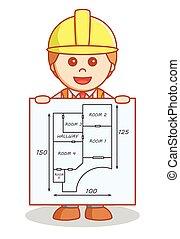 costruzione, esposizione, progetto architetto