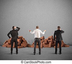 costruzione, fallimento, progetto
