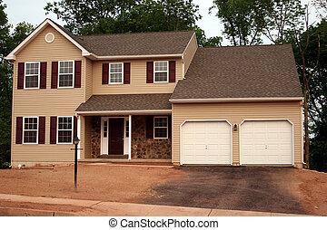 costruzione, fine, su, casa nuova