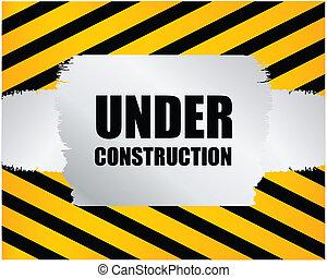 costruzione, fondo, sotto