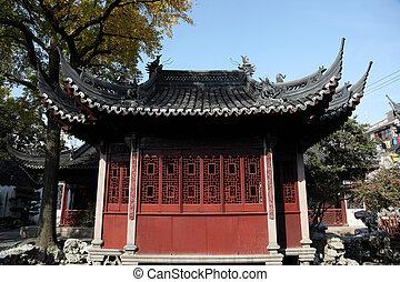 costruzione, giardino, cinese, sciangai, tradizionale, porcellana, yuyuan