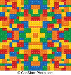 costruzione, gioco, blocchi, colorato