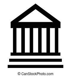 costruzione, icona, museo, stile, semplice