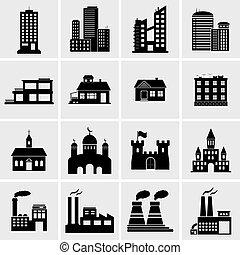 costruzione, icone, set