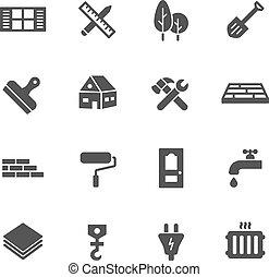 costruzione, icone