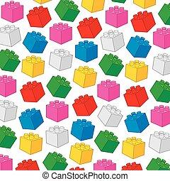 costruzione, illustration), elementi, blocchi, modello, plastica, vettore, fondo, costruzione, (toy
