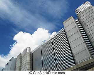 costruzione, industriale, moderno