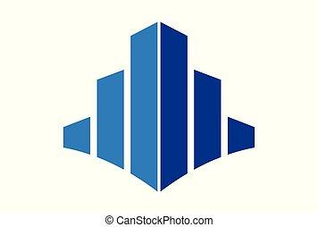 costruzione, logotipo, astratto, vettore, icona