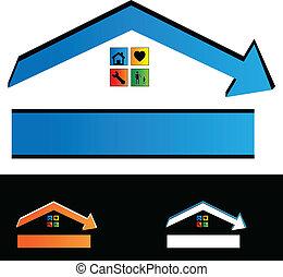 costruzione, logotipo, contruction, contratto