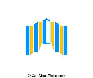 costruzione, logotipo, icona, disegnare elemento