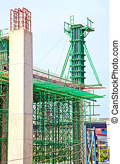 costruzione, luogo, verticale