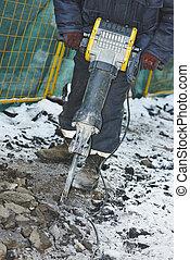 costruzione, martello, cricco, impianti strada