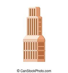 costruzione, moderno, alzarsi, contemporaneo, alto, ...