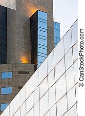 costruzione, moderno, centro, affari