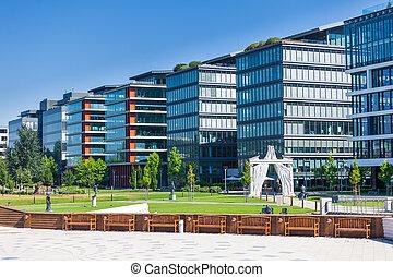 costruzione, moderno, dettaglio, ufficio