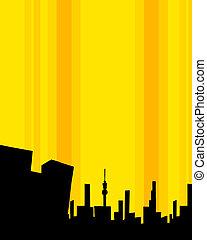 costruzione, moderno, silhouette