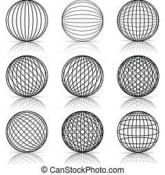costruzione, palla