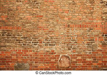 costruzione, parete, vecchio, fondo