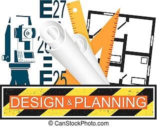 costruzione, pianificazione, disegno