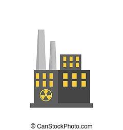 costruzione, pianta nucleare, fabbrica