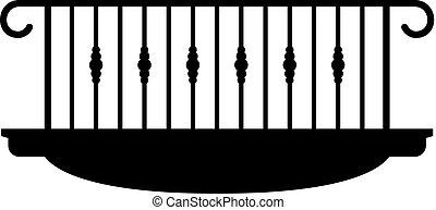 costruzione, piattaforma, progettare, balcone