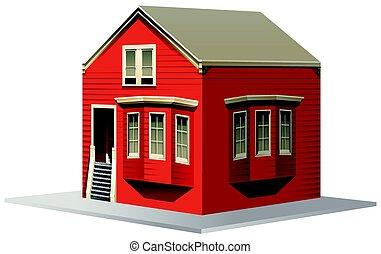 costruzione, piccolo, disegno, casa