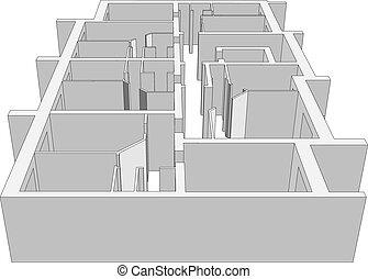 costruzione, plan., vettore
