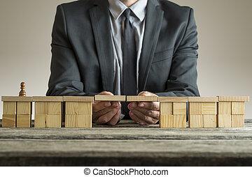 costruzione, ponte, spanna, pegno, divario, pezzo scacchi