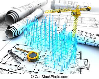 costruzione, progetto