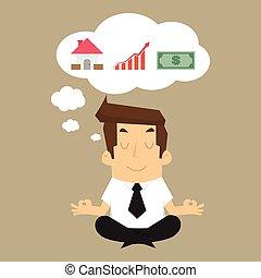costruzione, reddito, affari, soldi, futuro, immaginare, casa, uomo