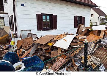 costruzione, residenziale, evacuazione