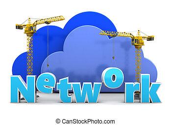 costruzione, rete