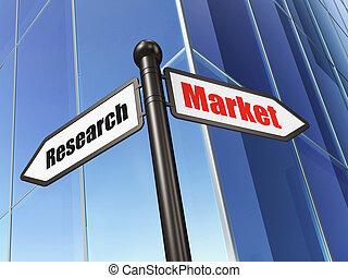 costruzione, ricerca,  concept:, Pubblicità, fondo, mercato