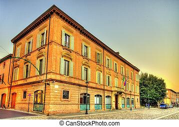costruzione, rimini, italia, centro, -, storico