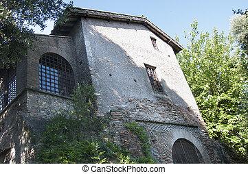 costruzione, romano, roma, storico, centro