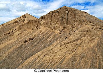 costruzione, sabbia, colline