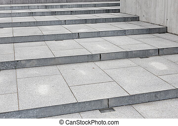costruzione, scala, moderno, -, concreto, composizione