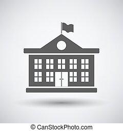 costruzione, scuola, icona