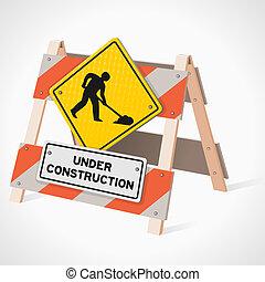 costruzione, segno strada