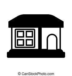 costruzione, sfondo bianco, casa
