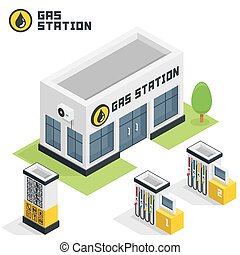costruzione, stazione, gas