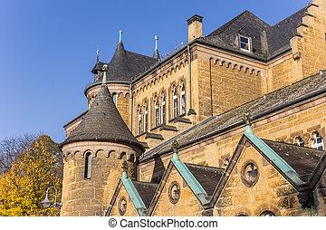costruzione, storico, goslar, centro, chiesa
