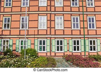 costruzione, storico, wernigerode, centro, colorito