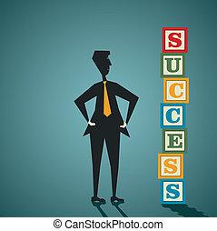costruzione, successo, blocco