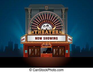 costruzione, teatro, cinema