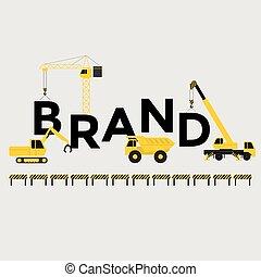 costruzione, testo, ingegneria, marca
