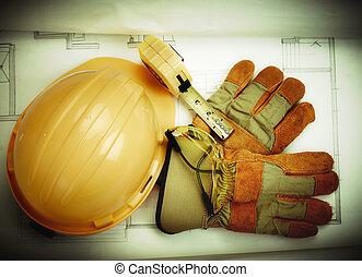 costruzione, tools.